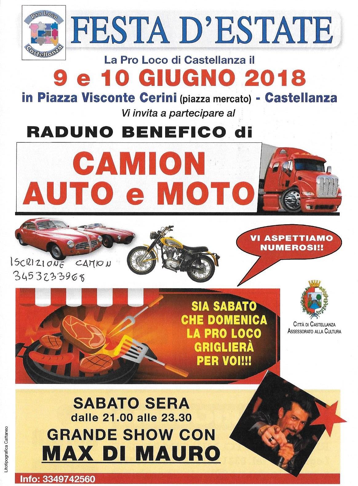 Evento Benefico 9-10 Giugno Castellanza